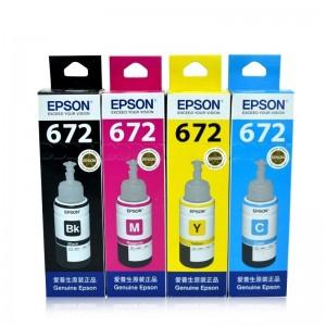 爱普生 672 墨水L351 L301 L360 L101 L310 L353 L358墨盒 4只套装