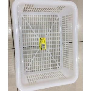 365 白色清洁塑料筐 6324  31.5*23.5*10 单位:个