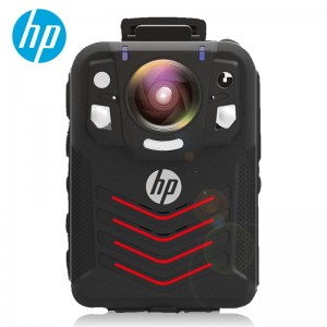 惠普 执法记录仪 DSJ-A7 标配+128G+遥控板 1296P高清大广角红外夜视便携防爆防水防摔 黑色