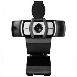 罗技高清摄像头 C930e 90度广角 4倍变焦 全高清1080p的视频通话 内置双重立体声降噪麦克风