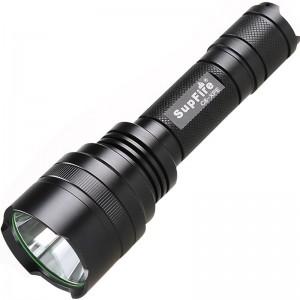 神火(supfire)C8 强光手电筒远射LED充电式防水迷你防身骑行户外灯