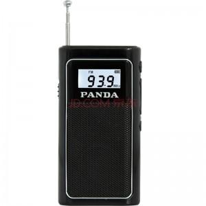 熊猫 PANDA 6200 袖珍式FM插卡收音机 MP3播放器迷你小音箱音响 黑色