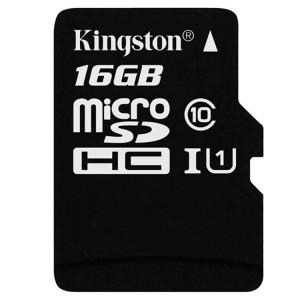 金士顿TF卡(Micro SD) SDCS/16GB 16GB 80MB/s TF Class10 UHS-I防水抗震高速存储卡 黑白