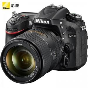 尼康 单反相机 D7200 18-300mm套机 AF-S DX f/3.5-6.3G VR镜头 相机包