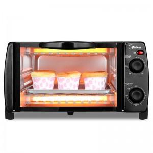 美的 电烤箱 T1-108B 10L 750W 黑色