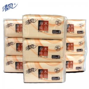 清风 BR38SC1 原木纯品迷你型抽取式面纸 200抽/包 3包/提 16提/箱(单位:箱)