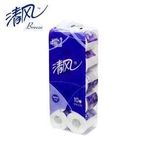 清风 B22AA5卷纸 平纹三层卷纸 卷筒卫生纸 10卷\提 10提/箱 整提价