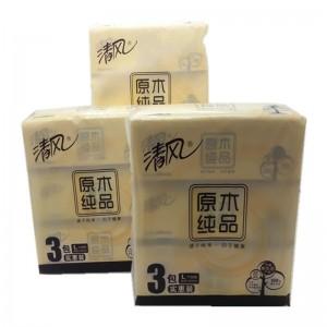 清风 BR38LC1S 双层面巾纸 188mm*195mm*2层 200抽/包 3包/提 16提/箱(销售单位:提)