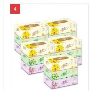 清风 B333B 盒装抽纸 2层130抽  48盒/箱(单位:箱)