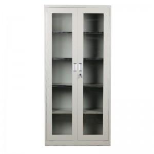 创美 加厚 通玻开门柜 通玻对开柜 铁皮柜 文件柜 1850*850*390
