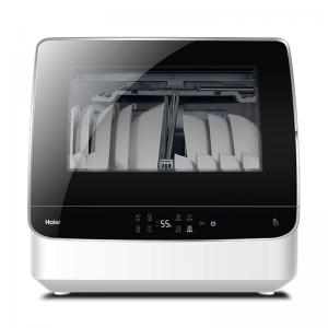 Haier/海尔 HTAW50STGB6 6-7套碗 黑色 台式 72度高温双效除菌 洗碗机