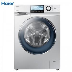 海尔 洗衣机 G90878BX12S 滚筒式 LCD液晶屏 一级能效 9公斤 200W 220V 600*595*850mm 转速800 银色