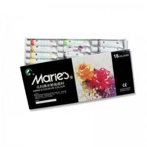 马利 7318 水粉画颜料套装 18色