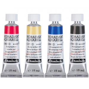 德国Schmincke史明克 15ml 专业美术绘画颜料 24色/套