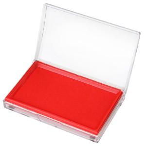 得力 快干印台 9864 137*88*25mm 长方型 油性 红色