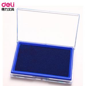 得力/deli 9864 蓝色 1 个装 长方形 137*88 mm 印台