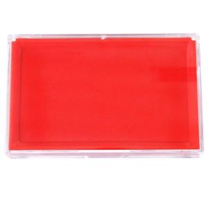 得力 9864 红色印台
