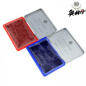 奥林丹打印台 9134 白色 9131 红色 9132 蓝色颜色:9132 蓝色、规格:其它