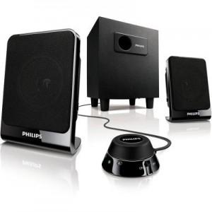 飞利浦(PHILIPS)SPA13122.1声道线控多媒体音箱黑色 SPA1312