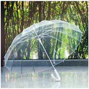 姑蘇 FZ-008 雨伞 塑料透明长柄 55cm (计价单位:把)