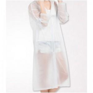 COAT 868 半透明磨砂成人雨衣雨披 男女士长款带帽(单位:套)