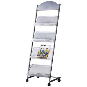 JZ得力杂志架标准型 9307 480*360*1450mm 灰色