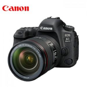 佳能(Canon)EOS 6D Mark II/6D2 专业全画幅数码单反相机 EF24-105mm F4 IS ⅡUSM套机 外置闪光灯+高级三脚架+高速64G存储卡套装