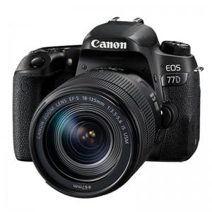 CANON/佳能 EOS77D 黑色 2420 万像素 单反套机 照相机