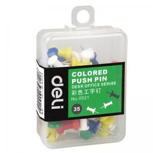 得力 0021 彩色工字钉