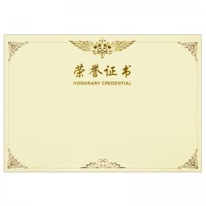 得力 荣誉证书 内芯 3230 6K 50张/包 1/-/40 黄色